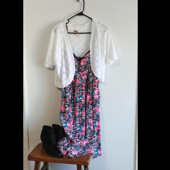 torrid Dresses & Skirts - Floral Zebra Print Torrid Skater Dress
